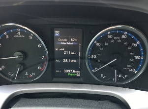 dash of car