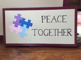 Peace Together mandala sign