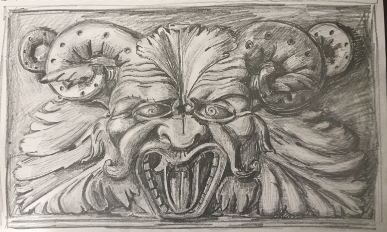 wood carving drawing